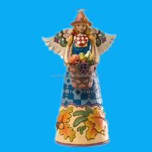 christmas beauty girl polyresin angel craft statue