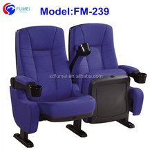 FM-239 Best price reclining cinema chair with cup holders for sale