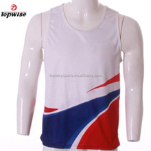 2015 sublimation Summer style vest gyms fitness sports