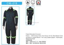 garment factory/flame retardant workwear/NFPA2112 fire suit/coverall