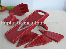 ABS material vegetable slicer with five different blades