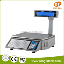 electronic price computing scale for weight and ticket printing