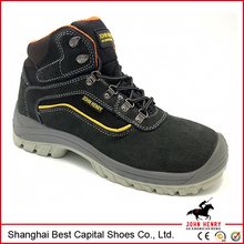 Low price hard sole safety shoes/cheap leather \new product