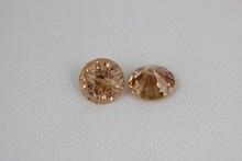 chrysanthemum cut cz round shape champagne cubic zirconia gemstones