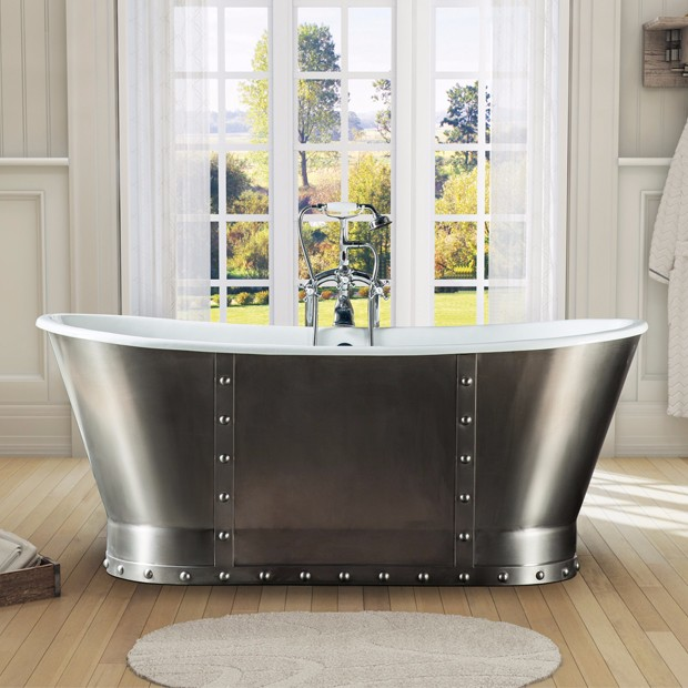 Cast Iron Tub With Stainless Steel Skirt Cheap Freestanding Copper ...