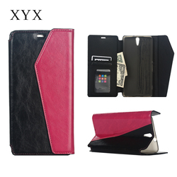 Superior Quality with Exquisite Wallet style leather flip smart case cover for sony xperia c5 ultra