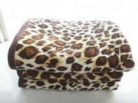 High color fastness 100% cotton active leopard printed bath towel