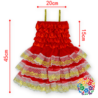 Latest Party Wear Red Dresses For Girls Lace Wedding Dresses Christmas Lace Petti Dresses For Girls Of 7 Years Old