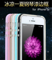 2 in 1 Aluminum+TPU cases for Iphone5 caes piano paint metal bumper for Iphone 5s cases