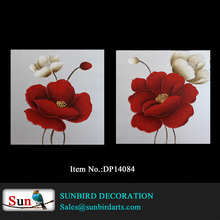 Hot selling and cheap beautiful flower paintings for home or hotel decoration