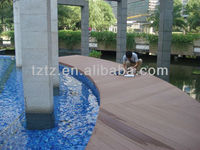 Green bulid material WPC extruded plastic composite hollow deck tile flooring