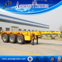 Tri-axle 40ft skeleton container truck trailer chassis for sale