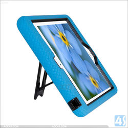 3 in 1 heavy duty shockproof Silicon PC hard Hybird case for ipad mini 4 with stand