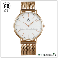 japan mov't stainless steel your own logo bafang rose gold plating watch