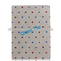 Small Polka Dot Leather Stand Case For iPad 5 iPad Air