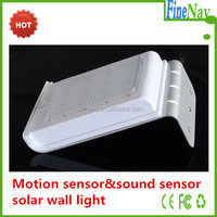 Solar energy powered led solar motion light senor solar wall light