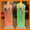 """Christmas Decor 9""""Battery Operated Color Changing Motor Swirling Glitter LED Candle"""