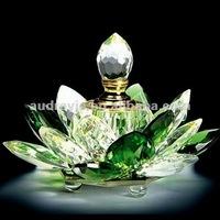 Lotus shaped Crystal Perfume Bottle For Wedding Favors