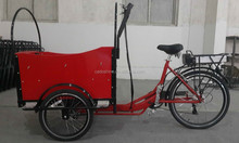CE wholesale bakfiets three wheel passenger tricycles for cargo use 2015