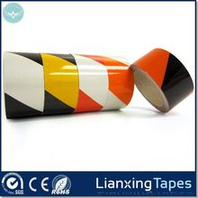China wholesale manufacturer rubber based pvc floor marking tape used for floor and road warning tape