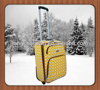 Pushed Button PU Leather Luggage