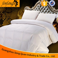 Wholesale down quilt with cotton down-proof fabric,filling with 90% white goose down,10% feather