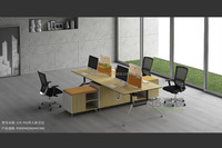 4 persons office partition modular workstation with low cabinet