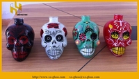 Various type paint glass bottle home decoration wholesale in xuzhou