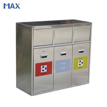 outdoor stainless steel foot pedal dustbin max