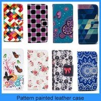 For Samsung galaxy A3 leather case mobie phone case flower pattern wallet flip leather case for Samsung galaxy A3(PT-SA3L221)
