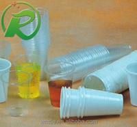 Eco and food grade plastic cups for fruit juice