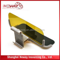 Super quality day and night HD easy viewing car sun visor / anti-dazzle mirror