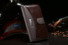 For Samsung Galaxy S6 Wallet Case leather case with Card Slots and Cash Compartment Flip Cover with Kickstand Feature