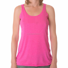 Cotton/nylon running singlet for woman