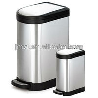 2015 foot pedal metal dust bin square can