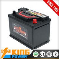 Maintenance Free Car Battery 57540MF 12V75AH King Power