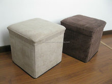 promotion! earth suede folding storage ottoman