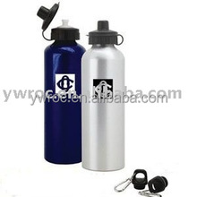 Promotional 750ml aluminum sports water bottle with drinking straw