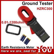 HZRC300 0.01-1200ohm Handheld Earth Resistance Meter Digital Ground Tester