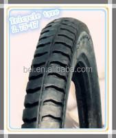 Three wheel motorcycle tire from China for Brazil 275-17 4pr/6pr/8pr