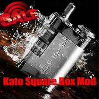 2014 Hottest High-end USmoke Kato Mod Box 18500 Battery Kato Square Box Mod Clone 1:1 by USmoke Square Box Kato Mod