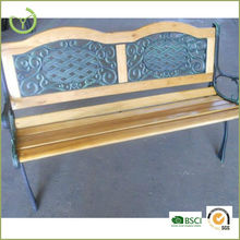 Outdoor all weather cast iron wood slats garden bench