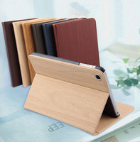 Accept customize high quality magnetic flip ultra thin PU leather case for IPAD Air