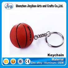 cheap price wholesale soft basketball shaped 3D keyring