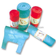 LDPE&HDPE t-shirt plastic shopping packing bags on roll