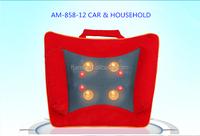 electric heated car and household massager,car lumbar shiatsu massage pillow