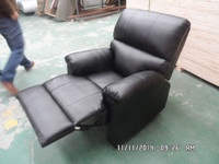 complext custom made promotional recliner sofa with logo/1 seat PU recliner sofa