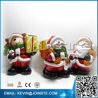 Christmas craft item,Ceramic Santa Claus,Big musical Santa claus