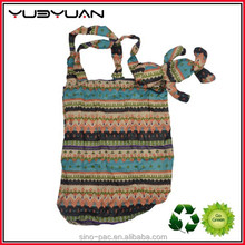 2015 Polyester folding shopping trolley bag with 2 wheels