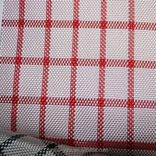 1680D double-color plaid PU fabric for bags